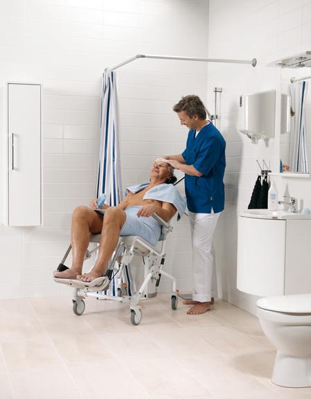Baño General Del Paciente En Regadera:Ayudas técnicas para ducha y wc