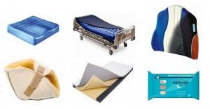 Productos ortopédicos para prevención y tratamiento de escaras o úlceras por presión