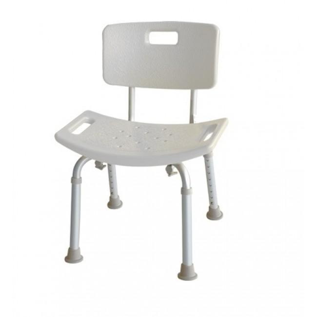 Silla para ducha de aluminio regulable ortoweb for Sillas para ducha plegables