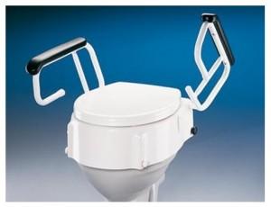 Elevadores de WC que se apoyan sobre la taza