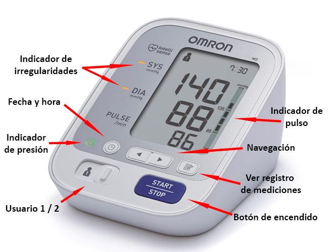 Tensiometro digital Omron para medir la presión arterial.