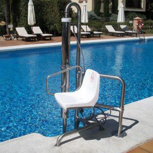 Piscinas adaptadas: ascensores acuáticos y grúas de piscina