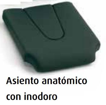 Asiento confort anatómico con inodoro (grosor 5cm.)
