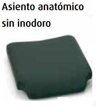Asiento confort anatómico sin inodoro (grosor 5cm.)