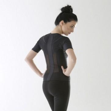 Camiseta postural Posture Shirt Core Zipper negro con cremallera mujer