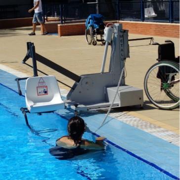 Elevador de piscina de bateria portatil METALU 400 - Capacidad de carga 120 kg