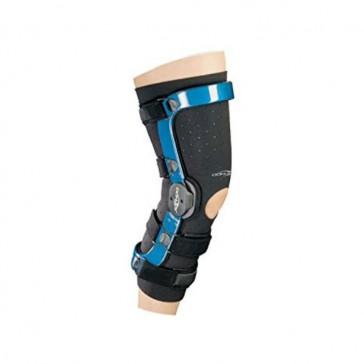 Revestimiento de protección de neopreno negro para rodilleras ultraligeras DonJoy