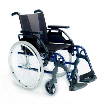 Silla de ruedas de aluminio autopropulsable Breezy Style - Azul marino