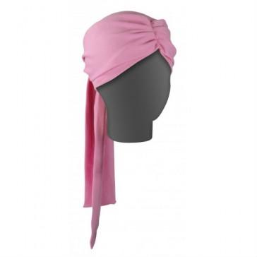 Turbante oncológico Dahlia liso - Rosa