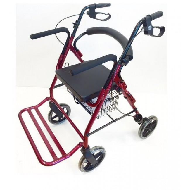 Andador rollator silla century ortoweb for Sillas para duchar ancianos