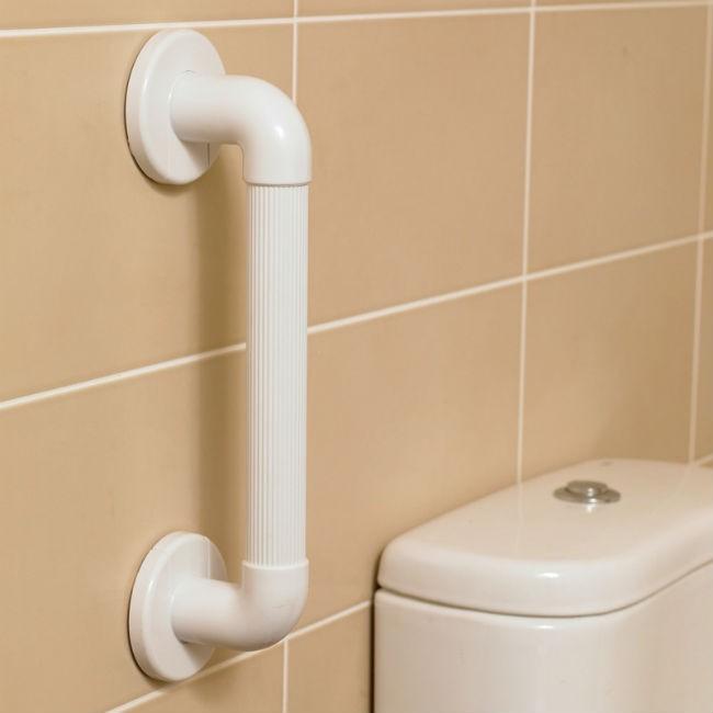 Asidera asideras barra barras ba o plastico estriada for Revestimiento plastico para banos
