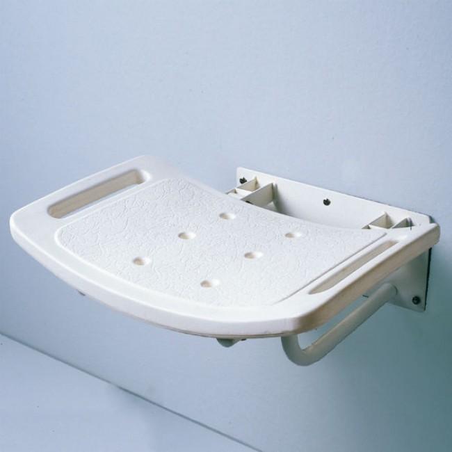 Asiento de pared abatible para ducha ortoweb for Asiento plegable ducha