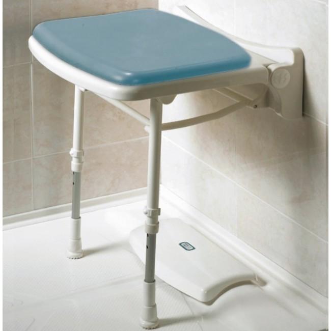 Asiento de pared para ducha con patas acolchado y estrecho - Asiento de ducha ...