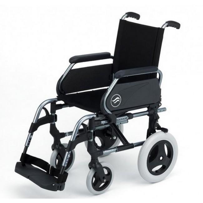 Breezy 300 silla de ruedas aluminio plegable no autopropulsable ortoweb - Ruedas para sillas de ruedas ...