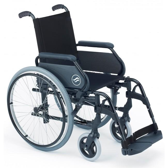 Breezy 300 silla de ruedas aluminio plegable autopropulsable ortoweb - Ruedas para sillas de ruedas ...