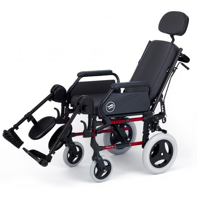 Breezy 300r silla de ruedas aluminio plegable no autopropulsable con respaldo reclinable ortoweb - Reposacabezas silla de ruedas ...