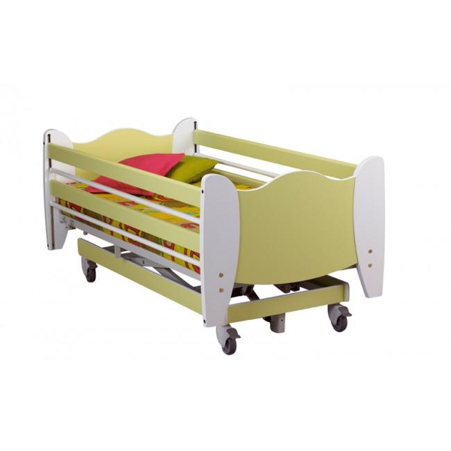cama articulada infantil pulgarcito con carro elevador