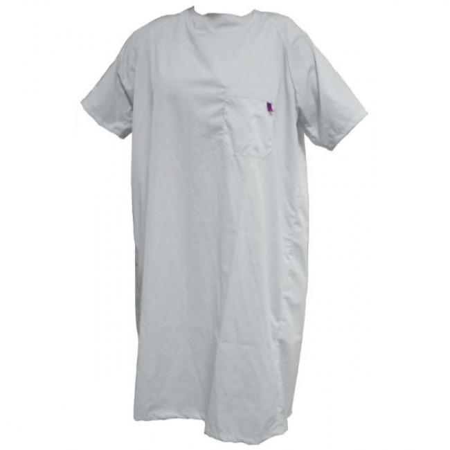 2ad5b89f5 Camisón hospitalario cierre trasero manga corta blanco - Ortoweb