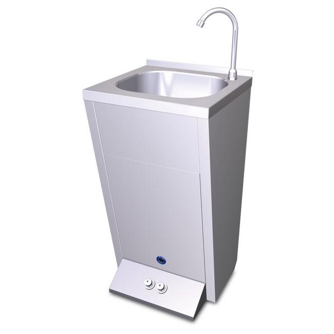 Lavamanos registrable con pedestal y dos pulsadores en for Lavamanos con pedestal