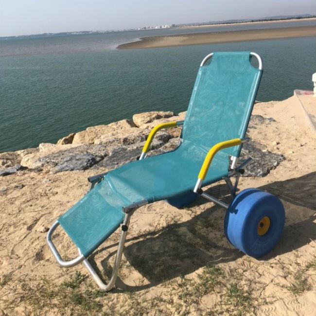 Oceanic sun tumbona para playa adaptada ortoweb for Tumbona playa decathlon