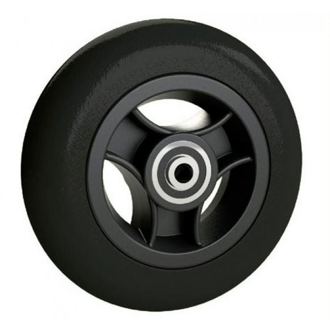 Rueda maciza 125 x 30mm llanta negra ortoweb for Ruedas de goma para sillas