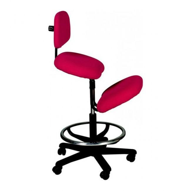 Silla alta ergon mica con respaldo y apoyo de rodillas for Sillas ergonomicas con apoyo lumbar