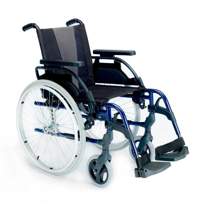 565cdf54bfcdc Silla de ruedas de aluminio autopropulsable Breezy Style - Azul marino