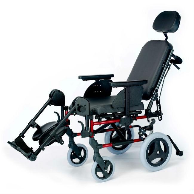 c1c06c45352d9 Silla de ruedas de aluminio Breezy Style con respaldo reclinable - No  autopropulsable
