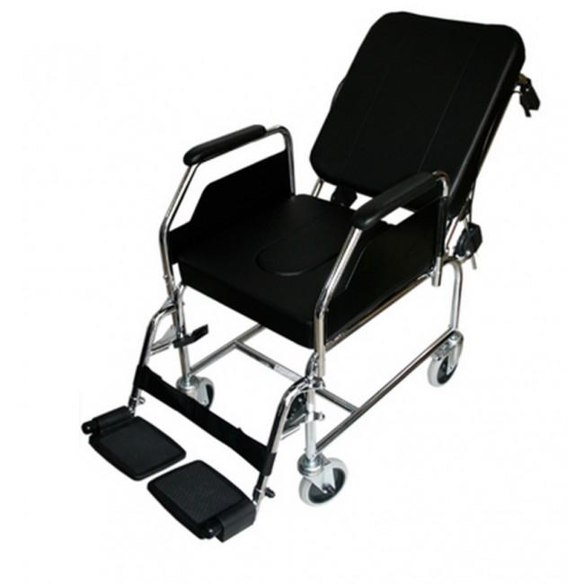 Silla de ruedas de acero para interior fija con respaldo for Precio sillas reclinables