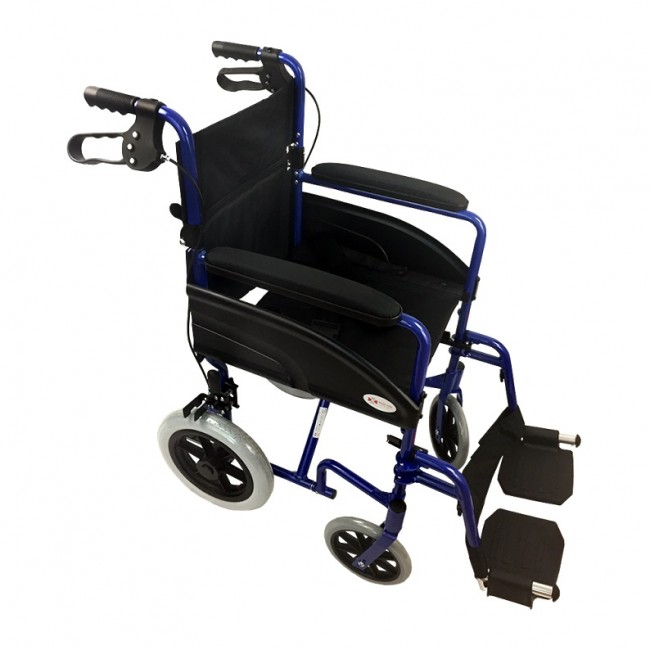 Silla de ruedas de aluminio plegable compacta con frenos de tambor ortoweb - Ruedas para sillas de ruedas ...