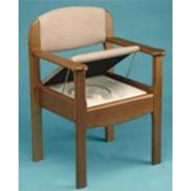 Sillon de madera con wc incorporado ortoweb for Sillas wc para enfermos