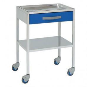 Mesa auxiliar para especialidades médicas con 1 cajón 14118
