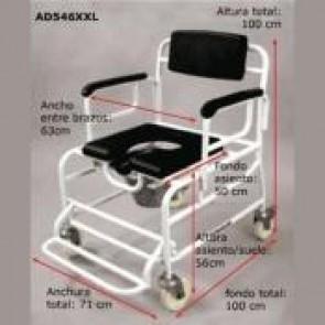 Silla de ruedas para ducha y WC XXL