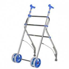 Andador de aluminio anatómico, regulable y plegable Air  - Azul