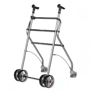 Andador de aluminio anatómico Rollatino con frenos de presión - Negro