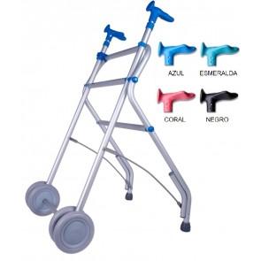 Andador de aluminio anatómico, regulable y plegable Air