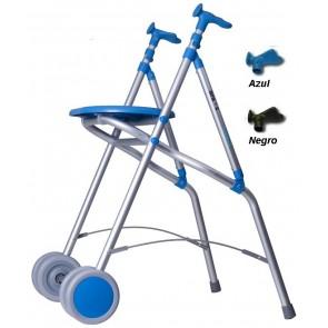 Andador de aluminio anatómico, regulable y plegable ARA-C. Con asiento.