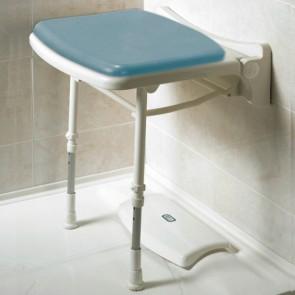 Asiento de pared para ducha con patas acolchado standard