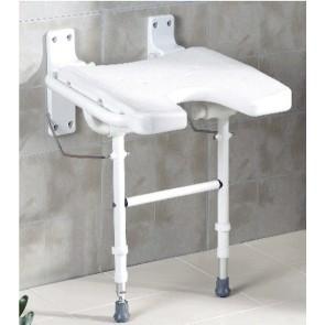 Asiento de ducha a pared en U abatible con patas