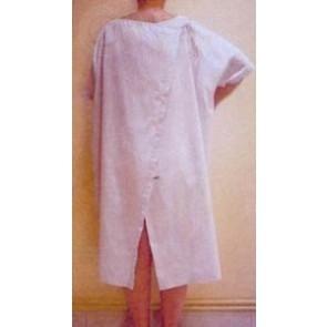 Camisón de paciente blanco manga corta