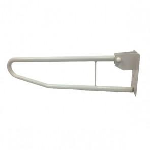 Barra abatible doble de acero pintada blanca 71cm.
