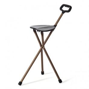 Bastón con asiento de 3 patas
