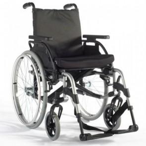 Breezy BasiX 2 - Silla de ruedas de aluminio plegable multiajustable