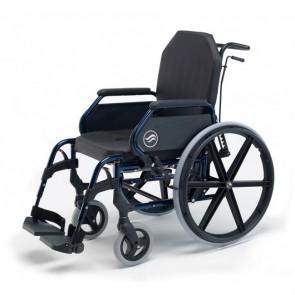Breezy Home 3013A - Silla de ruedas fija de interior autopropulsable con respaldo reclinable