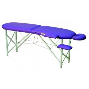 Camilla C113 plegable de aluminio regulable en altura con soporte cara y brazos (215x50 cm.)