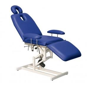 Camilla C132 de elevación eléctrica, regulación manual de espalda y piernas, reposabrazos y reposacabezas (210x62 cm.)
