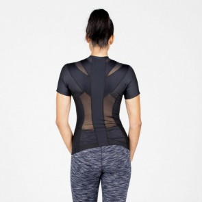 Camiseta postural Posture Shirt Core negro mujer