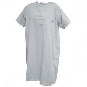 Camisón hospitalario cierre trasero manga corta blanco