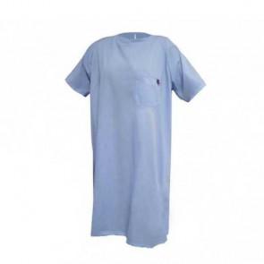 Camisón hospitalario cierre trasero manga corta azul