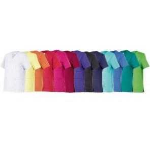 Casaca sanitaria manga corta de colores